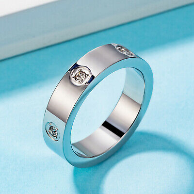 5mm Women Silve Rose Gold Wedding Diamond Rings Love Ring Size 6 -9 Best (Best Gold Wedding Rings)