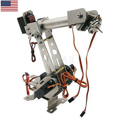 Unassembled Robotic Arm Clamp With Servos For Robot Smart Car Arduino Scm X-usa