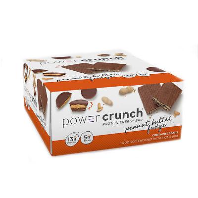 Power Crunch Protein Energy Bar  -  Peanut Butter Fudge - 12 Bars