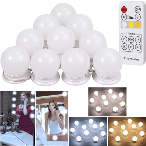 Wireless Remote Control LED Vanity Mirror Light Hollywood St