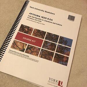 HUMA 1825 course kit