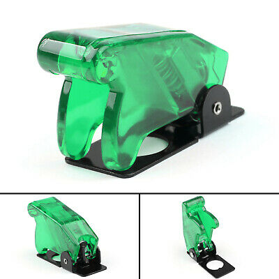 1x Toggle Switch Boot Plastic Safety Flip Cover Cap 12mm Clear Green Ua