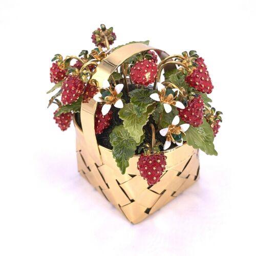 Cartier Vermeil & Enamel Strawberry Basket