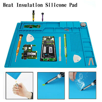 45x30cm Magnetic Heat Insulation Pad Silicone Desk Mat Phone Soldering Repair
