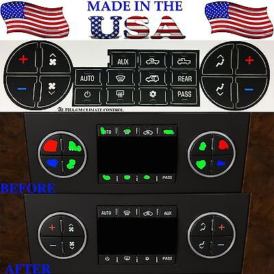GM Climate Control Repair Kit Replacement For 2007-2013 GM Trucks Decal Stickers