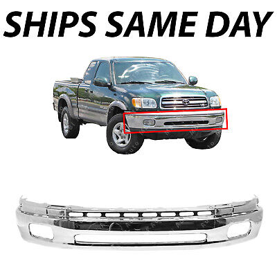 NEW Chrome Steel Front Bumper Face Bar for 2000-2006 Toyota Tundra w/ Fog 00-06