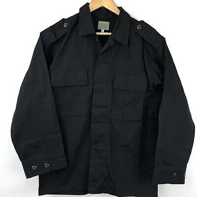 Mens BDU Style Shirt Jacket Size M Long Black 2 Pocket Tactical Top Warm (2 Pocket Bdu Shirt)