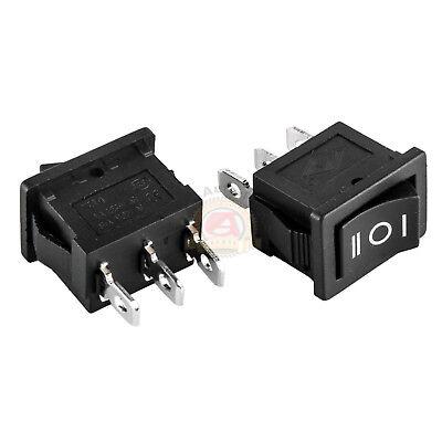 2pcs 3-position Rocker Switch 12v Car Ac 6a250v 3-pin On-off-on 12 X 34