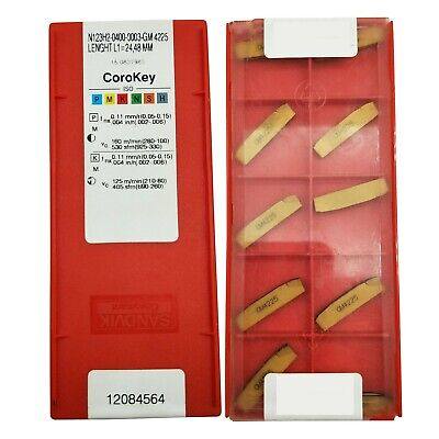20p N123h2-0400-0003-gm Threading Carbide Inserts Cutting Tool For Lathe Cnc