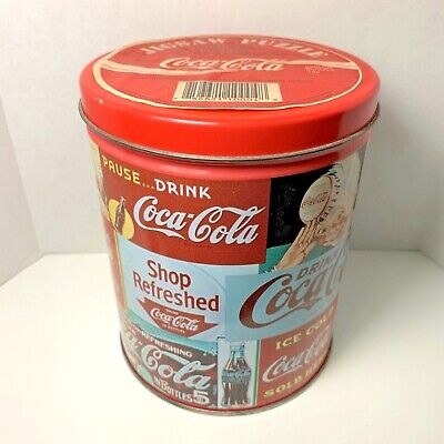 Vintage Coca-Cola 700 Piece Jigsaw Puzzle Canister Metal Tin Can | 1993