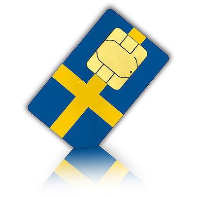 SIM Karte für Schweden für 1 GB Daten für mobiles Internet Standard/Micro