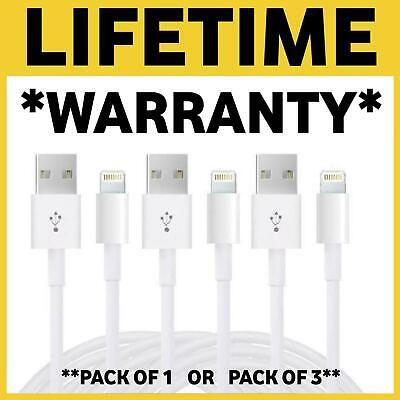 Genuine iPhone Apple Lightning To USB Cable 1M 2M 3M Charger Lead 6 7 8 X XS XR