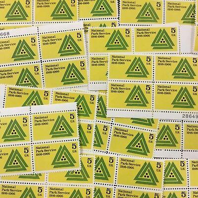 Bj Stamps  1314   National Park Service   25 Untag Plate Blocks  Mnh 5 Cents