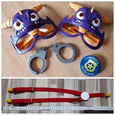 Halloween Fasching Monster Maske Brille, Sheriffstern,Handschellen, - Halloween Handschellen