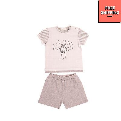 STORY LORIS T-Shirt Top & Shorts Set Size 6M 66CM Printed Melange Made in Italy
