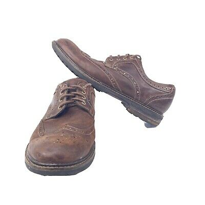 Clarks Mens Norse Wingtip Derby Oxford Shoes Size 9.5M Brown Leather Laced 62084