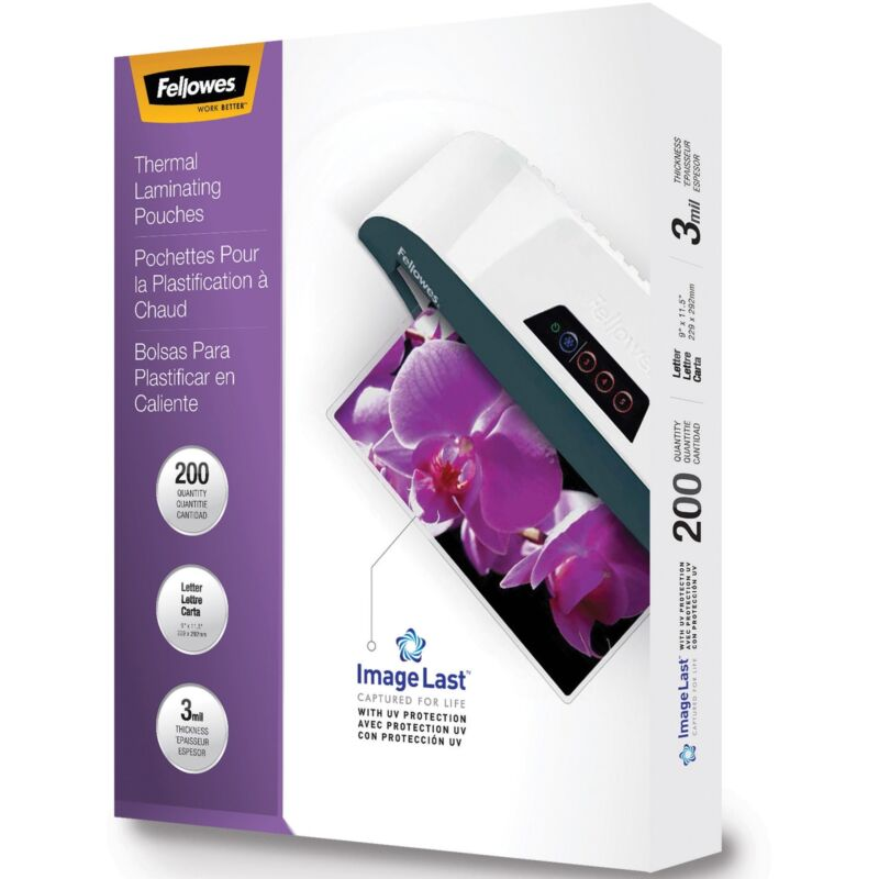 Fellowes, Inc Laminating Pouch 3mil. Ltr 200/PK Clear 5244101