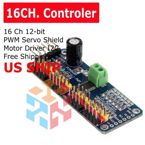 16 Ch 12-bit PWM Servo Shield Motor Driver I2C Module PCA9685 For Arduino  JQ~