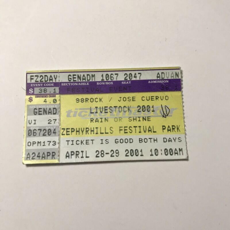 Livestock Concert Ticket Stub LINKIN PARK Offspring Disturbed Vintage April 2001