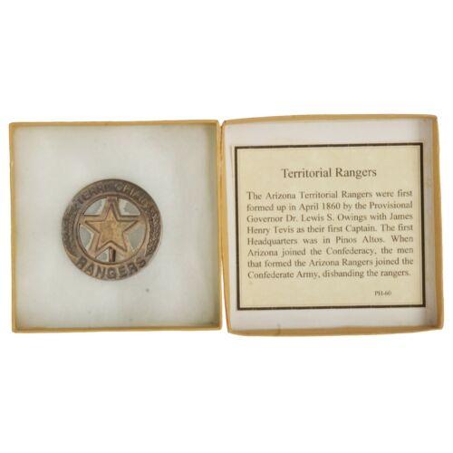 NIB Famous Lawmen of the Old West Territorial Rangers Replica Badge
