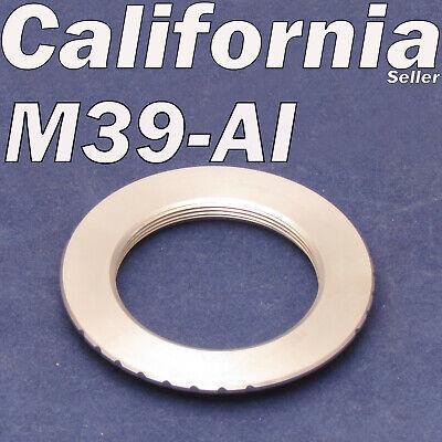 Leica M39 Screw Lens to Nikon AI F D7000 D90 D5100 D60 D3100 Mount Adapter Ring