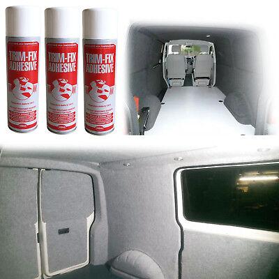Trim Fix 500ml High Temperature Adhesive Spray Carpet Glue For Cars Vans Lining