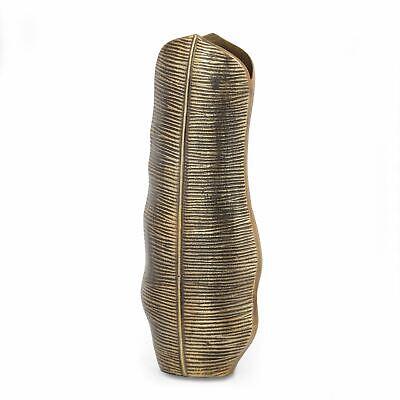 Clarkdale Handcrafted Aluminum Leaf Vase