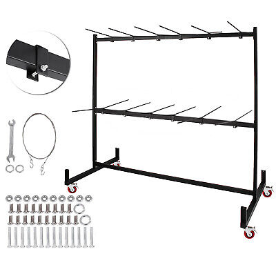 Two-tier Folding Chair Dolly Cart Collapsible Heavy Duty Easy Simple Assemble