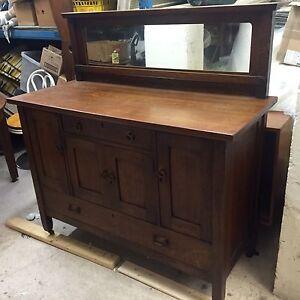 Antique mission arts & crafts stickley era sideboard oak