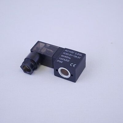 Solenoid Coil Din Connector With Led Indicator 110vac 2.5w