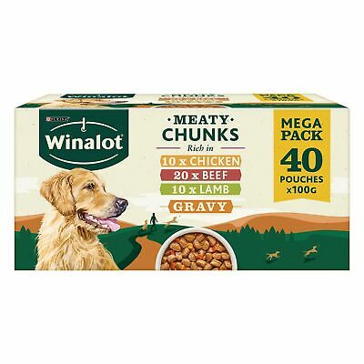 Winalot Mixed in Gravy Wet Dog Food Pouches - 40 x 100g
