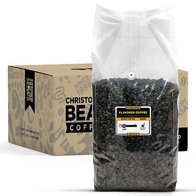 Christopher Bean Coffee HAWAIIAN CHOCOLATE MACADAMIA NUT Flavored 5 LB BULK BAG ()