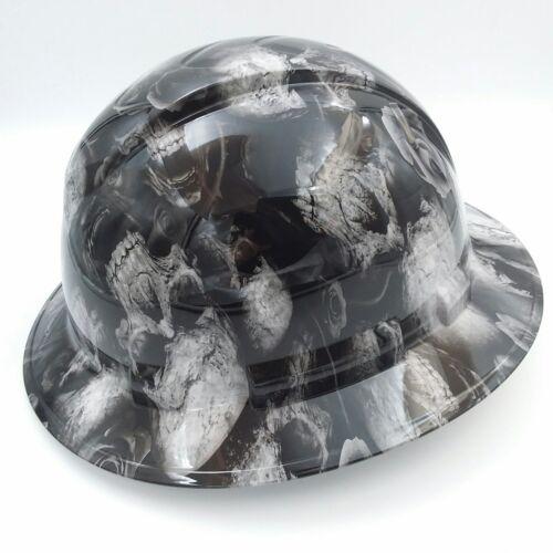 FULL BRIM Hard Hat custom hydro dipped , NEW 3D BONE HEAD SKULLS HOT NEW 1