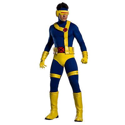 Cyclops X Men Mask (Adult Men's Marvel X-Men Mutant Cyclops Halloween Costume Jumpsuit Mask)