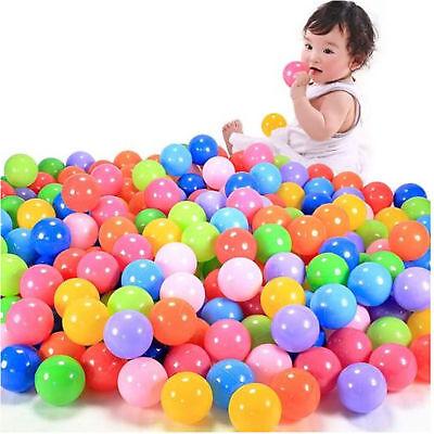 1000 pcs Baby Kid Pit Toy Game Swim Pool Soft Plastic Ocean Ball 5.5cm