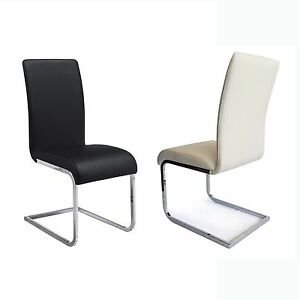 black leather chrome dining chairs dining chairs