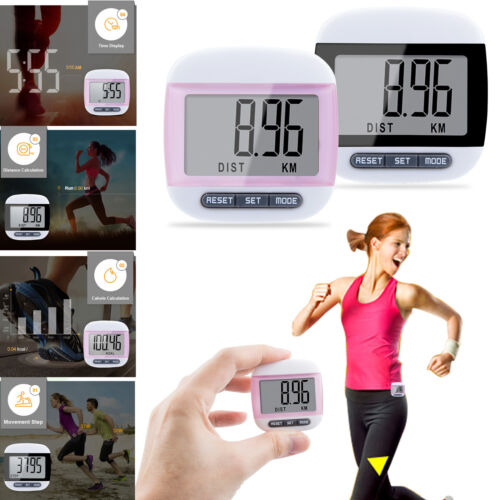 LCD Digital Step Pedometer Walking Calorie Counter Distance