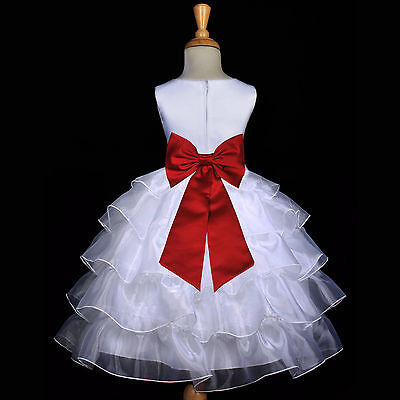 Gorgeous First Communion Dresses (GORGEOUS SATIN ORGANZA DRESS FLOWER GIRL BIRTHDAY PAGEANT COMMUNION EASTER)