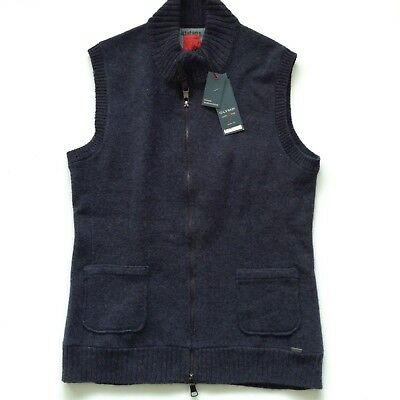 OLYMP LEVEL 5 FIVE NAVY TANKTOP ZIPPED CARDIGAN SIZE M