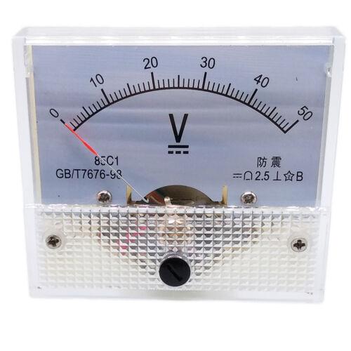 US Stock Analog Panel Volt Voltage Meter Voltmeter Gauge 85C1 0-50V DC