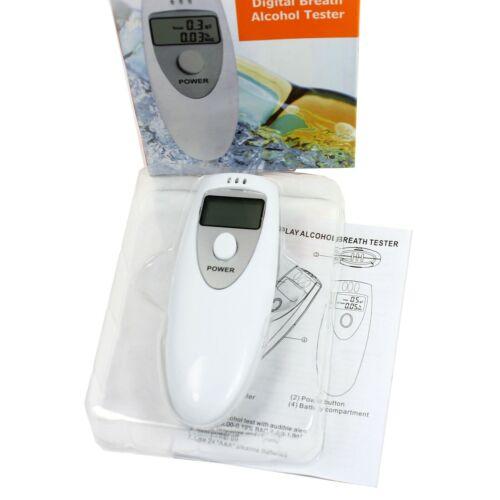 Digital Alcohol Breathalyzer Compact Portable NO CONTACT Breath Tester Analyzer