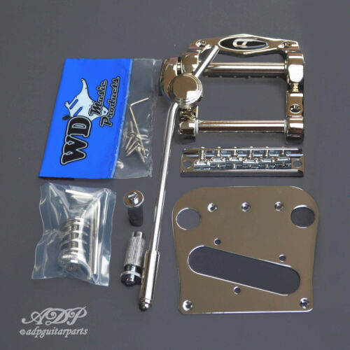 DUESENBERG TREMOLA +WDB5 TELE Conversion KIT BRIDGE 6 SADDLES Pick.PLATE CHR EXP