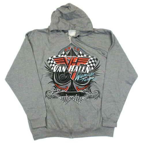 Van Halen 2012 World Tour Full-Zip Sweatshirt Hoodie - Gray - XL