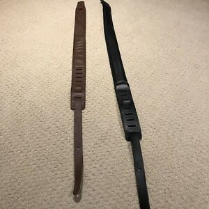 2 mint hardly used padded leather guitar straps