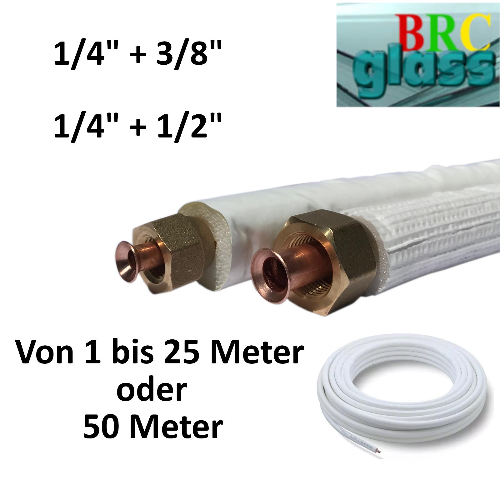 3m Kupferleitung 1//4 1//2 Zoll doppel K/ältemittelleitung geb/ördelt