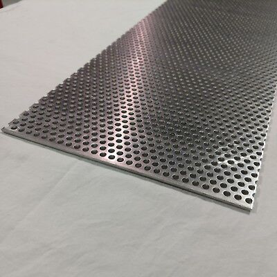 Perforated Metal Aluminum Sheet .125 18 Gauge 12 X 24 14 Hole 38 Stagger