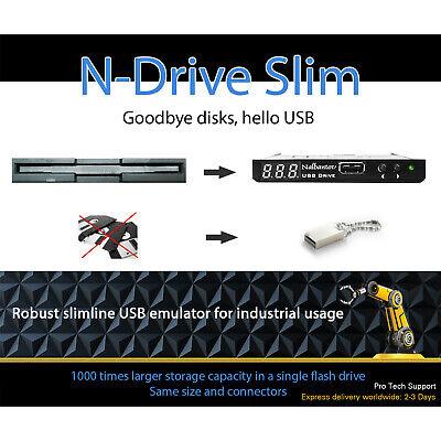 Floppy Disk Usb Emulator Nalbantov N-drive Industrial Slim For Prototrak M3 Cnc