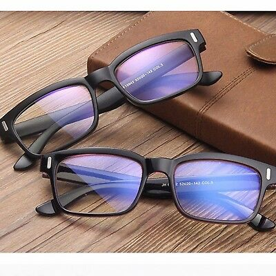 Classic Square Shape Clear Lens Fashion Nerd Geek Glasses Womens Mens