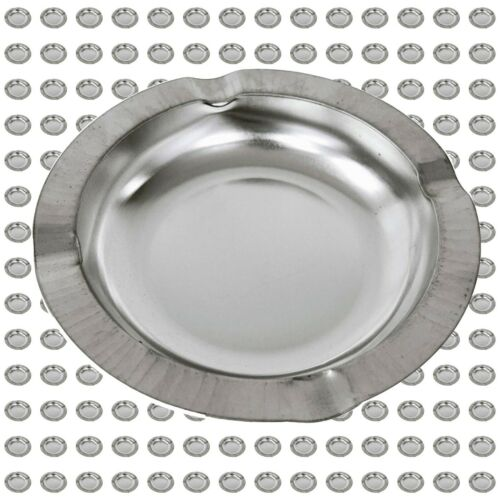 "5 1/2"" Metal Ashtrays Bulk case of 200 Ashtrays"