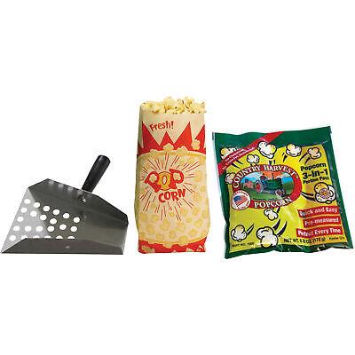 Country Harvest 4-oz. Popcorn Machine Starter Kit Stainless Steel Scoop Tri Pack